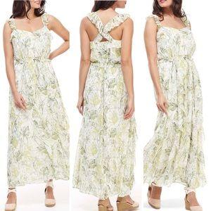 NEW Gal Meets Glam Cheryl Printed Maxi Dress